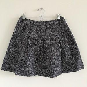 Theory Ridiano Tweedy Pleated Mini Skirt Size 10